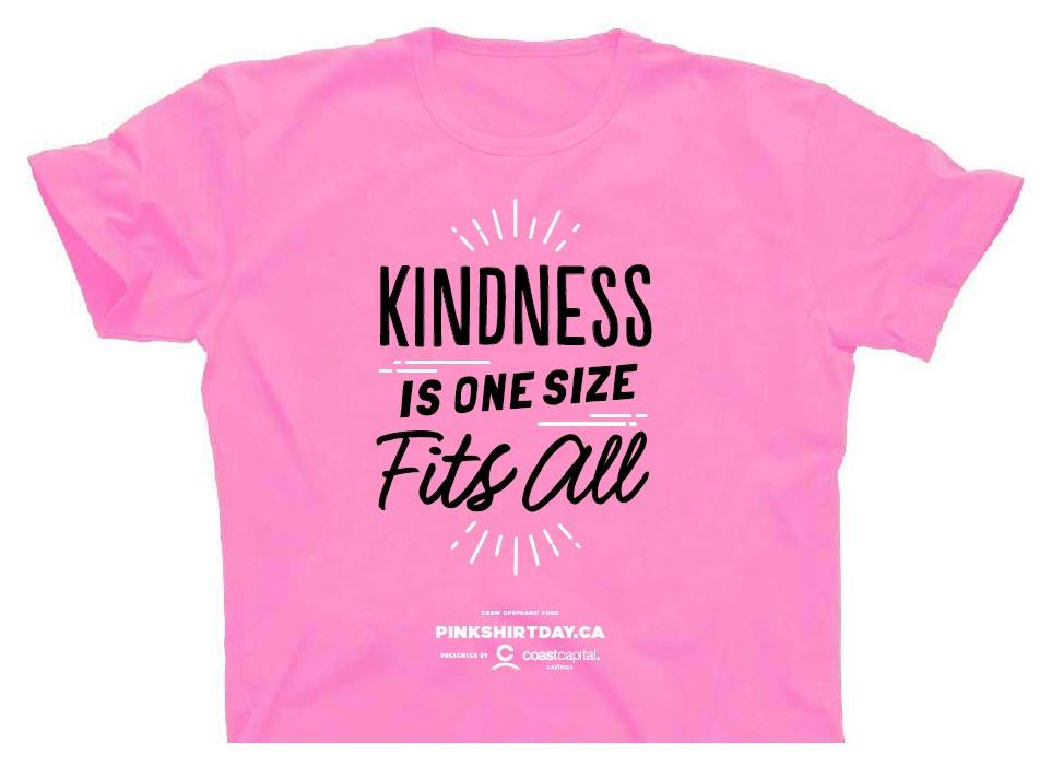 Pink Shirt Day on Wednesday....