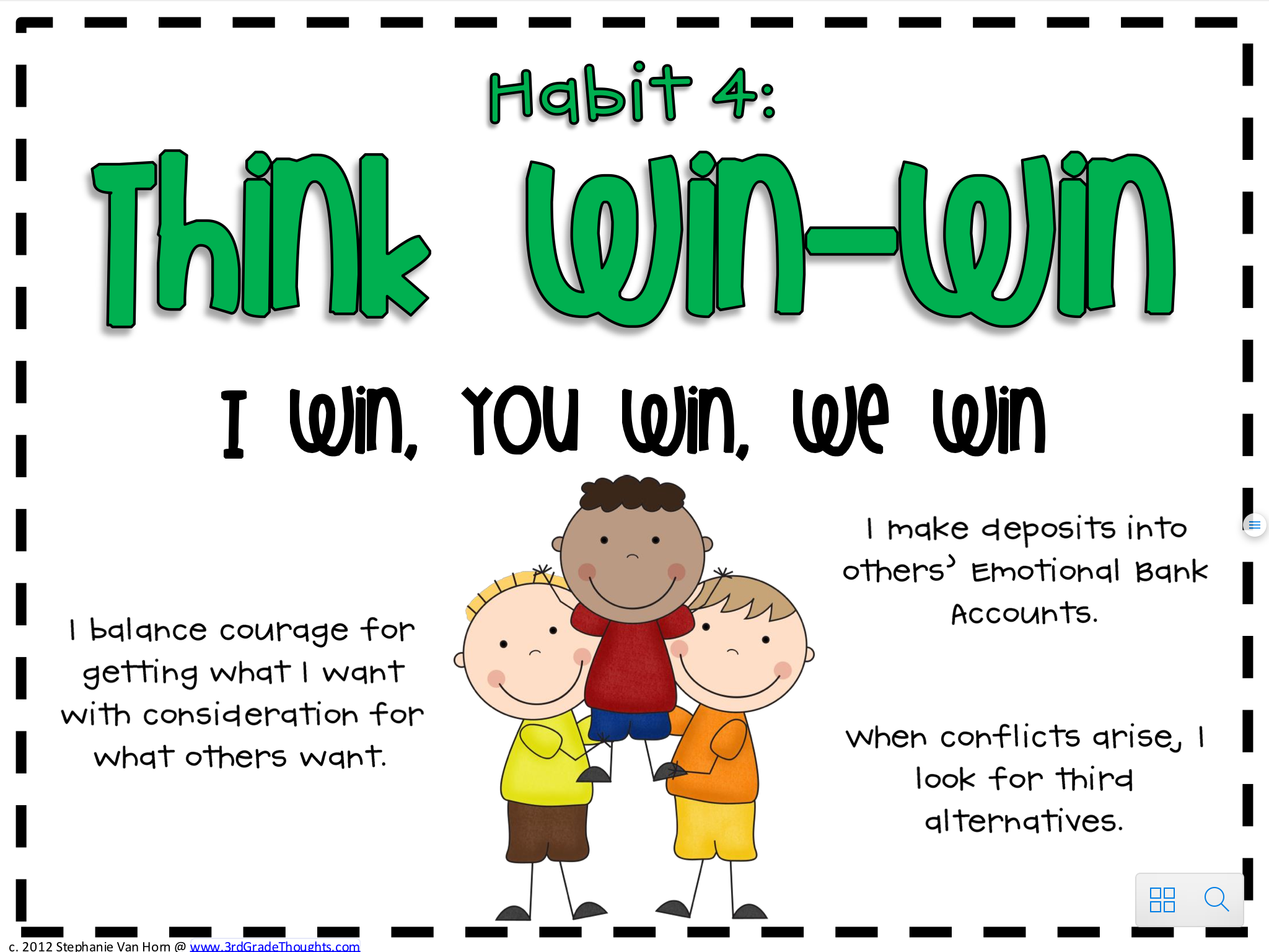 Our focus this month is on Habit #4