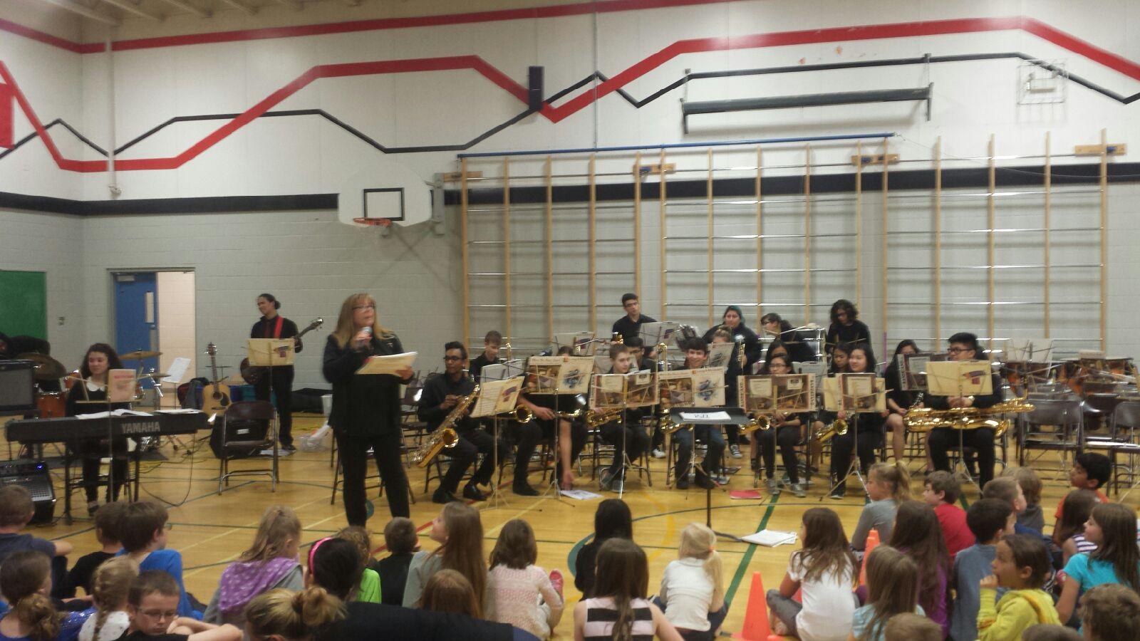 Edmonton Band Performed on Thursday, April 14