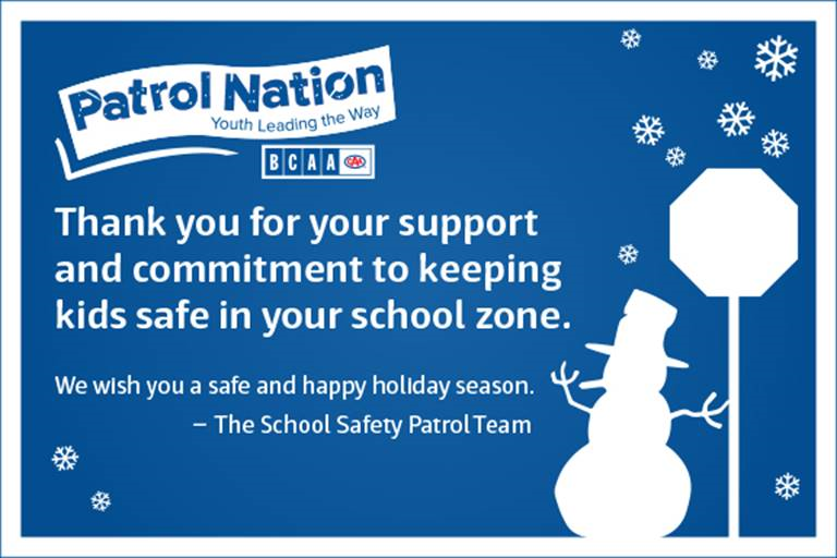To our Safety Patrol Team...
